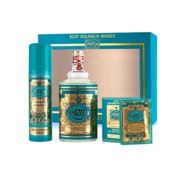 4711 Lote ORIGINAL EAU DE COLOGNE 300 ml + Desodorante Vaporizador 150 ml + 10 toallitas