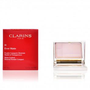 Clarins EVER MATTE Poudre Compacte Minérale 03 Transparent Dark 10 gr